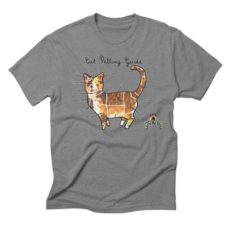 Cat Petting Guide Men's Triblend T-Shirt by Toe Beans Cat Cafe Online Shop