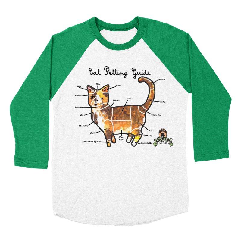 Cat Petting Guide Women's Baseball Triblend T-Shirt by Toe Beans Cat Cafe Online Shop