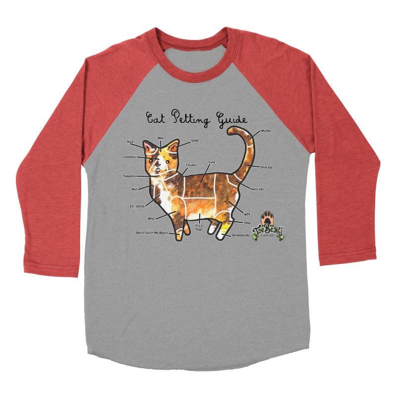 Cat Petting Guide Women's Baseball Triblend Longsleeve T-Shirt by Toe Beans Cat Cafe Online Shop