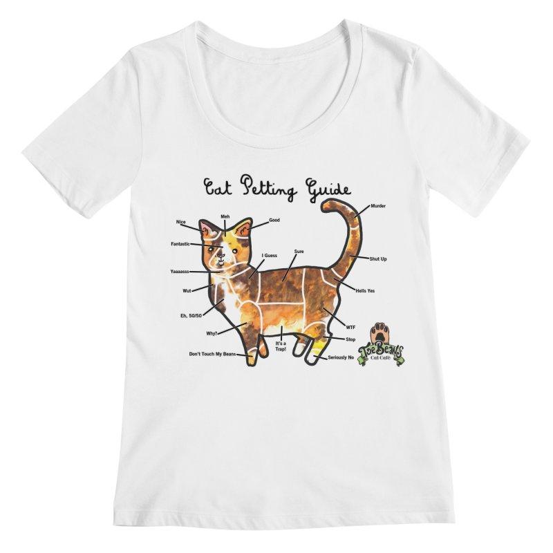 Cat Petting Guide Women's Regular Scoop Neck by Toe Beans Cat Cafe Online Shop