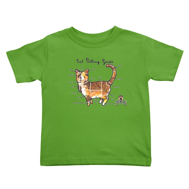 Cat Petting Guide Kids Toddler T-Shirt by Toe Beans Cat Cafe Online Shop