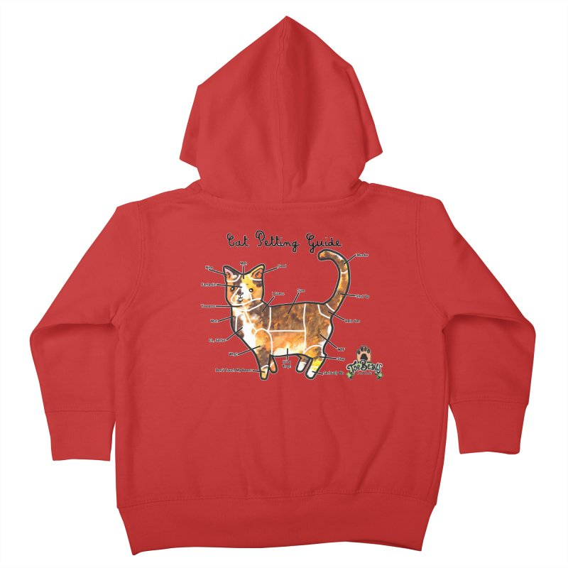 Cat Petting Guide Kids Toddler Zip-Up Hoody by Toe Beans Cat Cafe Online Shop