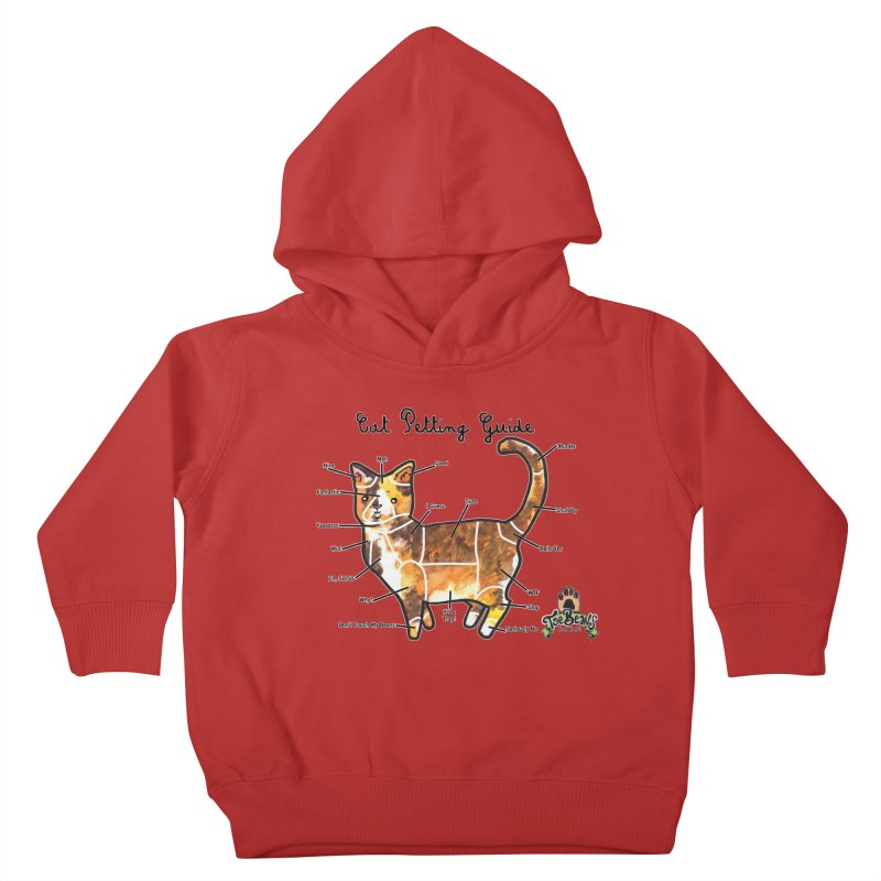 Cat Petting Guide Kids Toddler Pullover Hoody by Toe Beans Cat Cafe Online Shop