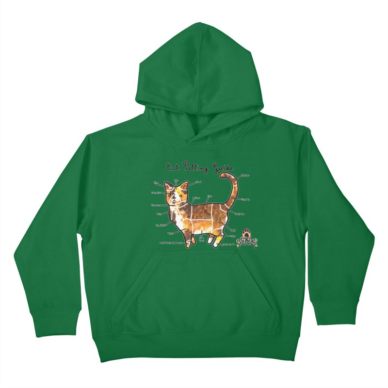 Cat Petting Guide Kids Pullover Hoody by Toe Beans Cat Cafe Online Shop
