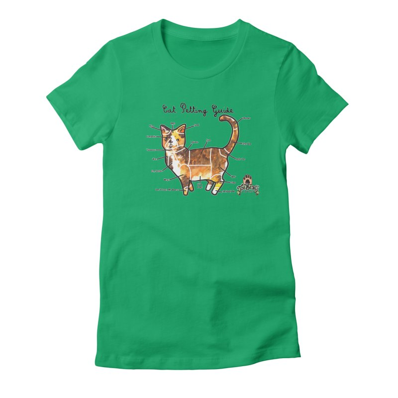 Cat Petting Guide Women's T-Shirt by Toe Beans Cat Cafe Online Shop