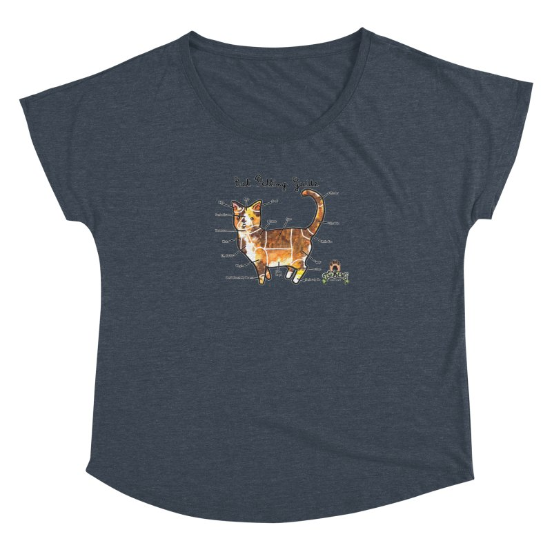 Cat Petting Guide Women's Dolman Scoop Neck by Toe Beans Cat Cafe Online Shop