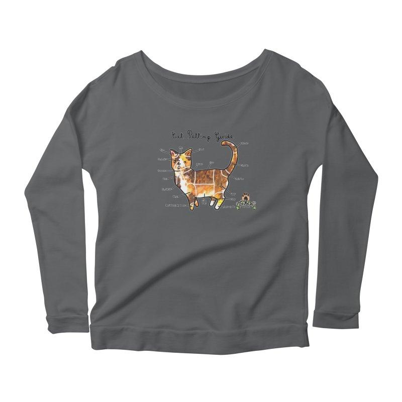 Cat Petting Guide Women's Scoop Neck Longsleeve T-Shirt by Toe Beans Cat Cafe Online Shop