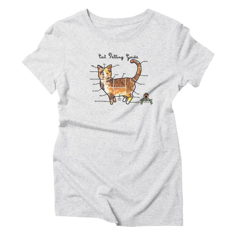 Cat Petting Guide Women's Triblend T-Shirt by Toe Beans Cat Cafe Online Shop