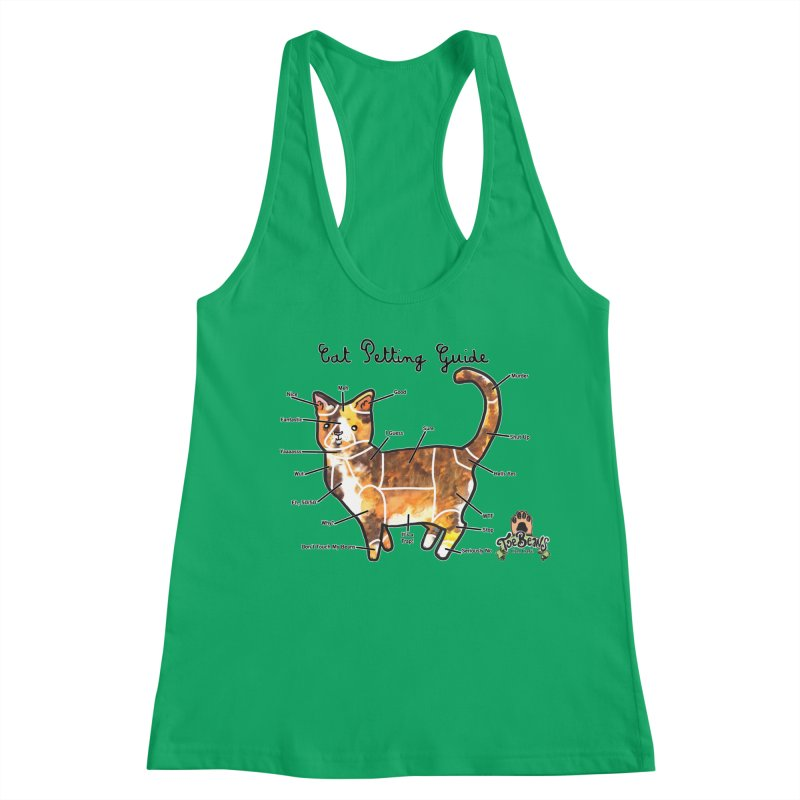 Cat Petting Guide Women's Tank by Toe Beans Cat Cafe Online Shop