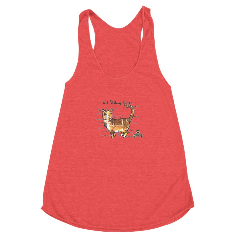 Cat Petting Guide Women's Racerback Triblend Tank by Toe Beans Cat Cafe Online Shop