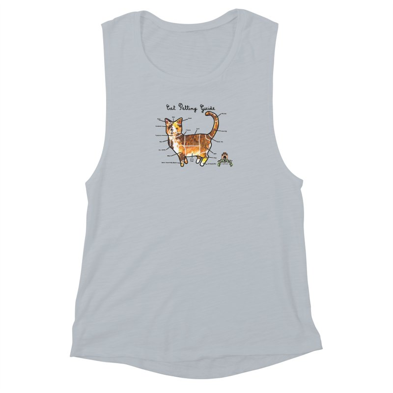 Cat Petting Guide Women's Muscle Tank by Toe Beans Cat Cafe Online Shop