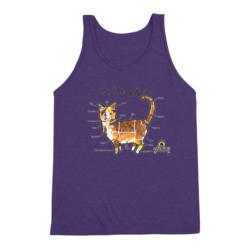 Cat Petting Guide Men's Triblend Tank by Toe Beans Cat Cafe Online Shop