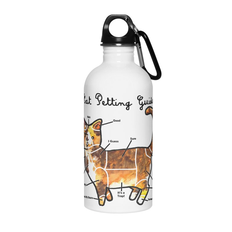 Cat Petting Guide Accessories Water Bottle by Toe Beans Cat Cafe Online Shop