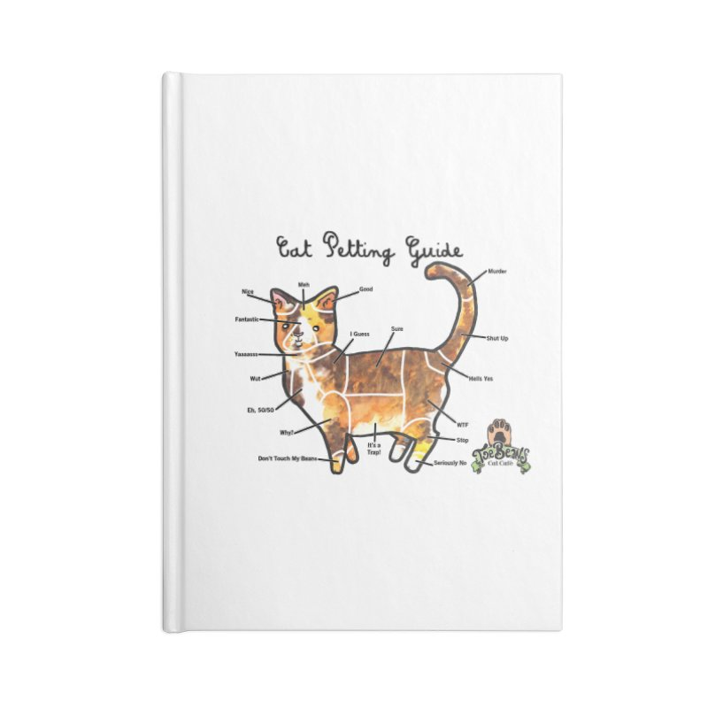 Cat Petting Guide Accessories Lined Journal Notebook by Toe Beans Cat Cafe Online Shop