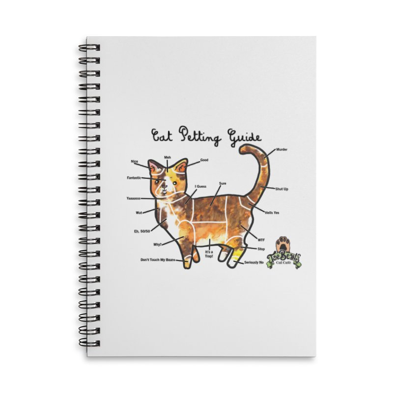Cat Petting Guide Accessories Lined Spiral Notebook by Toe Beans Cat Cafe Online Shop