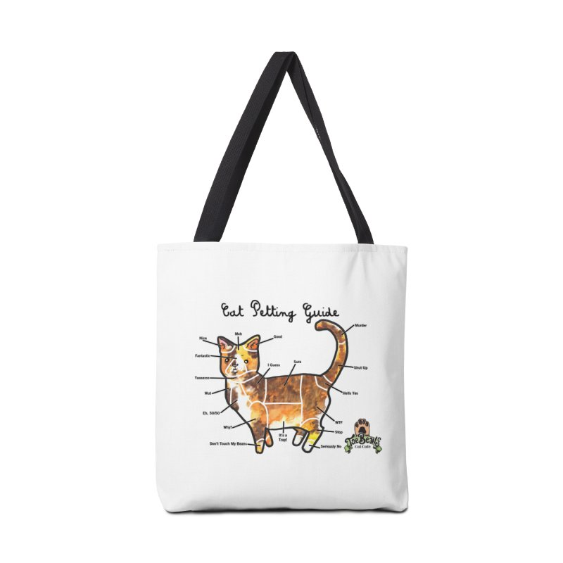 Cat Petting Guide Accessories Tote Bag Bag by Toe Beans Cat Cafe Online Shop