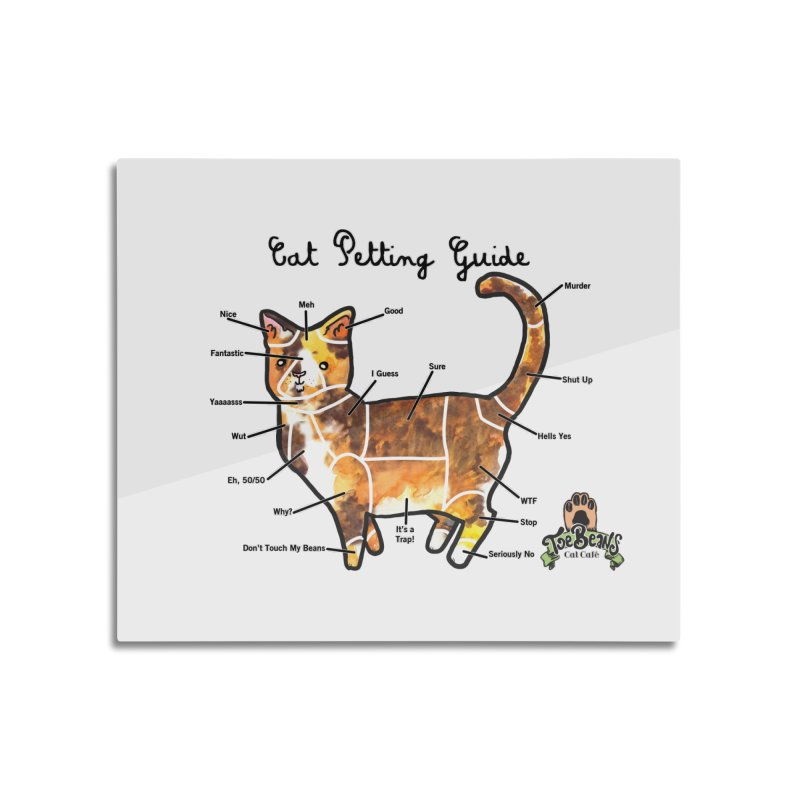 Cat Petting Guide Home Mounted Aluminum Print by Toe Beans Cat Cafe Online Shop