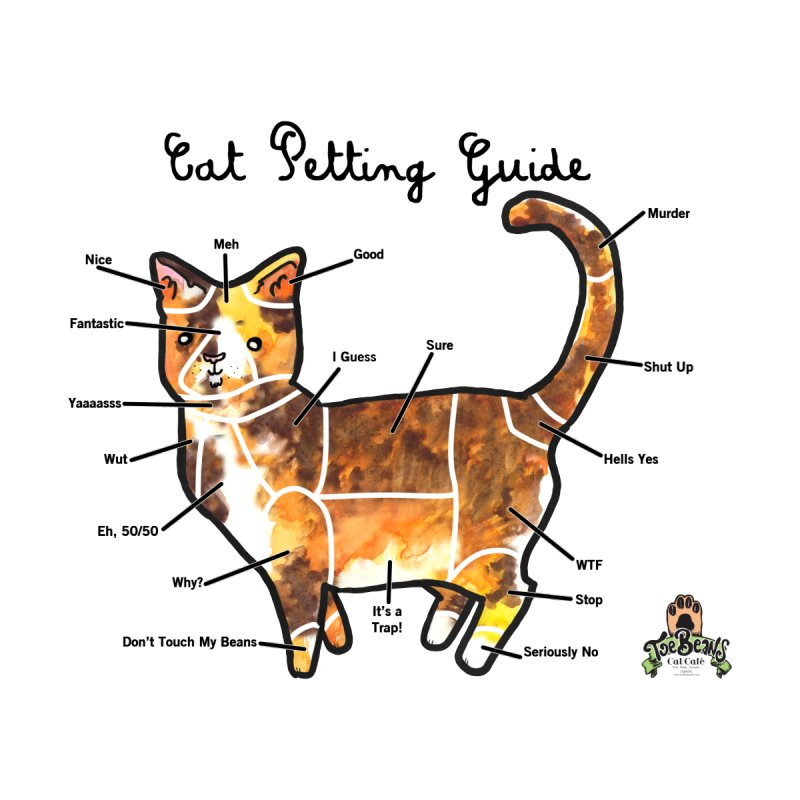 Toe Beans Cat Petting Guide None  by Toe Beans Cat Cafe Online Shop
