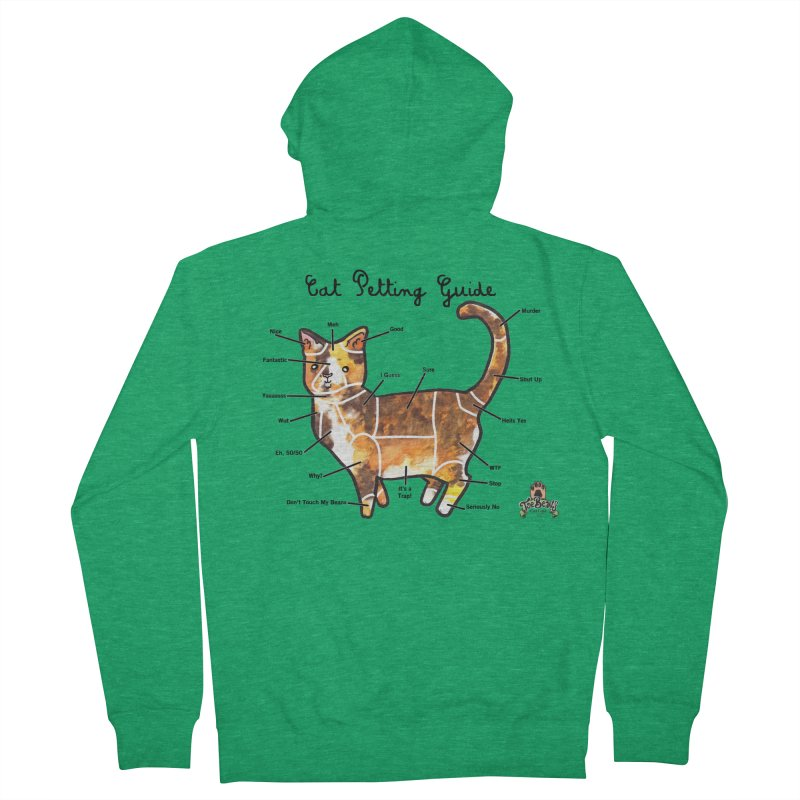 Toe Beans Cat Petting Guide Women's Zip-Up Hoody by Toe Beans Cat Cafe Online Shop
