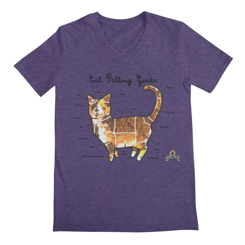 Toe Beans Cat Petting Guide Men's V-Neck by Toe Beans Cat Cafe Online Shop