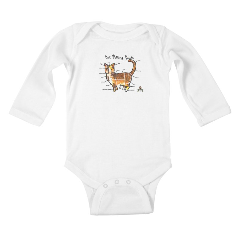 Toe Beans Cat Petting Guide Kids Baby Longsleeve Bodysuit by Toe Beans Cat Cafe Online Shop