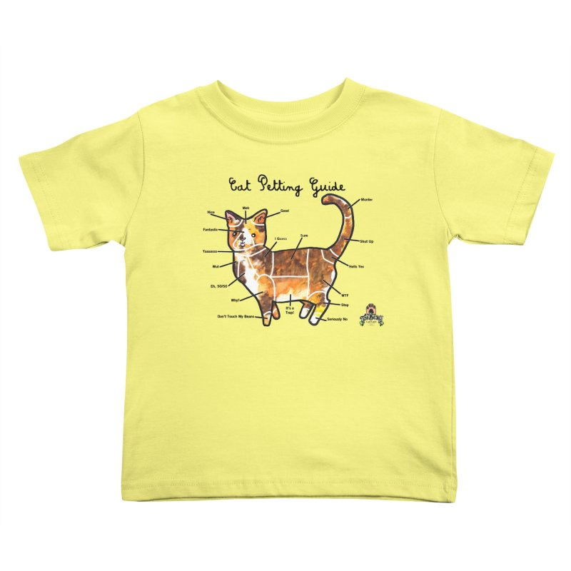 Toe Beans Cat Petting Guide Kids Toddler T-Shirt by Toe Beans Cat Cafe Online Shop