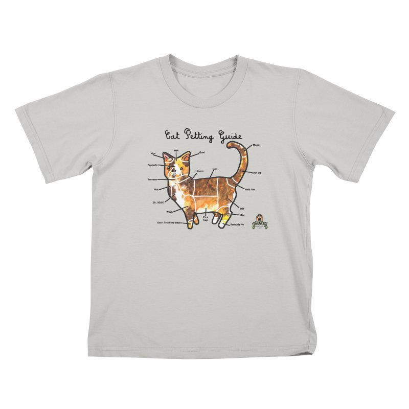 Toe Beans Cat Petting Guide Kids T-Shirt by Toe Beans Cat Cafe Online Shop