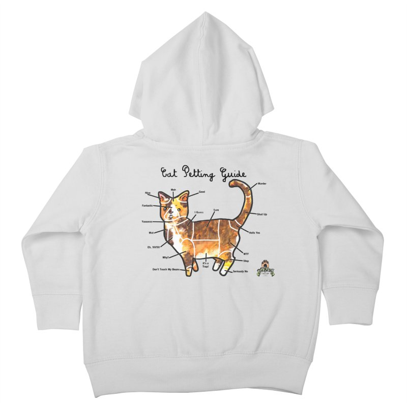 Toe Beans Cat Petting Guide Kids Toddler Zip-Up Hoody by Toe Beans Cat Cafe Online Shop