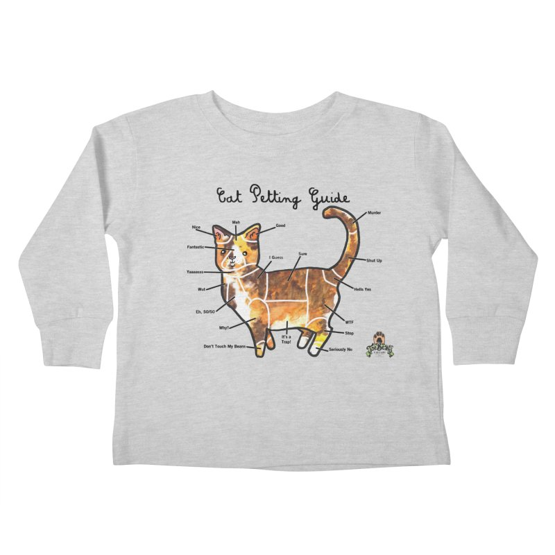 Toe Beans Cat Petting Guide Kids Toddler Longsleeve T-Shirt by Toe Beans Cat Cafe Online Shop
