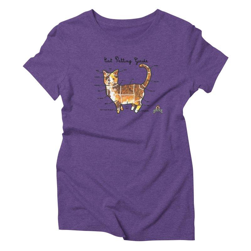 Toe Beans Cat Petting Guide Women's Triblend T-Shirt by Toe Beans Cat Cafe Online Shop