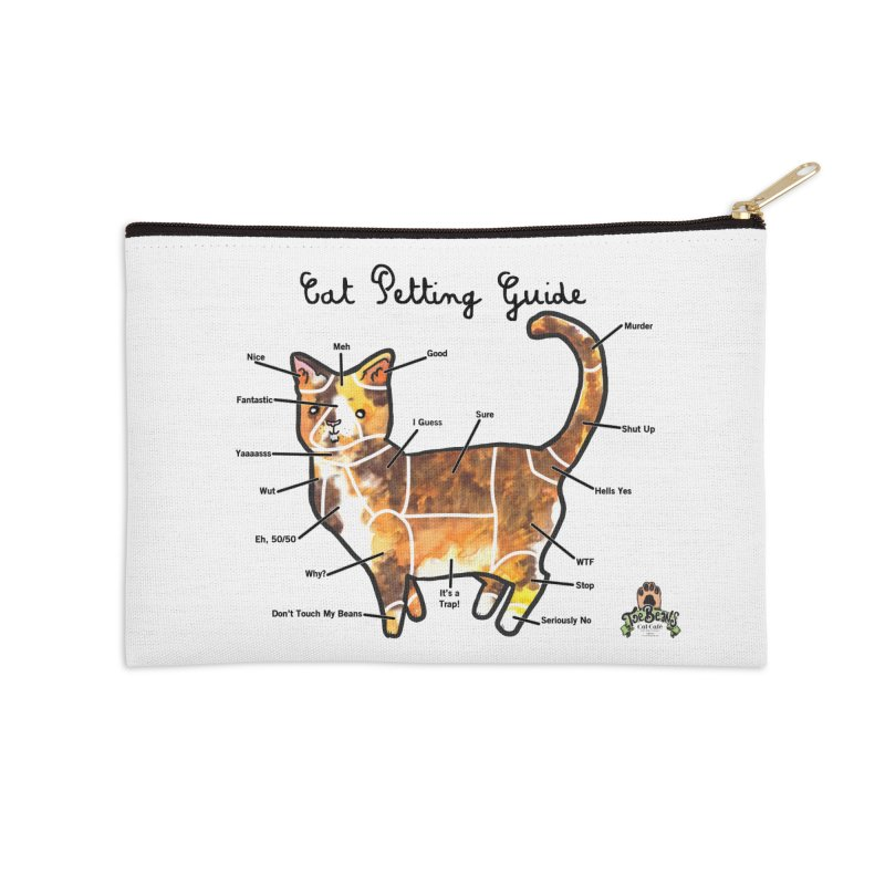 Toe Beans Cat Petting Guide Accessories Zip Pouch by Toe Beans Cat Cafe Online Shop