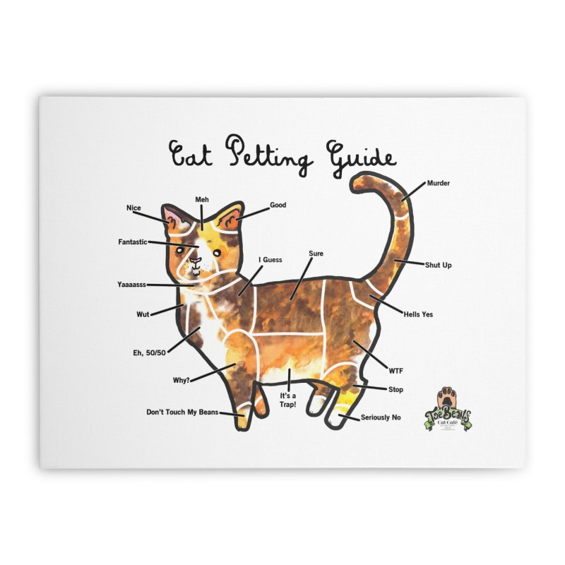 Toe Beans Cat Petting Guide Home Stretched Canvas by Toe Beans Cat Cafe Online Shop