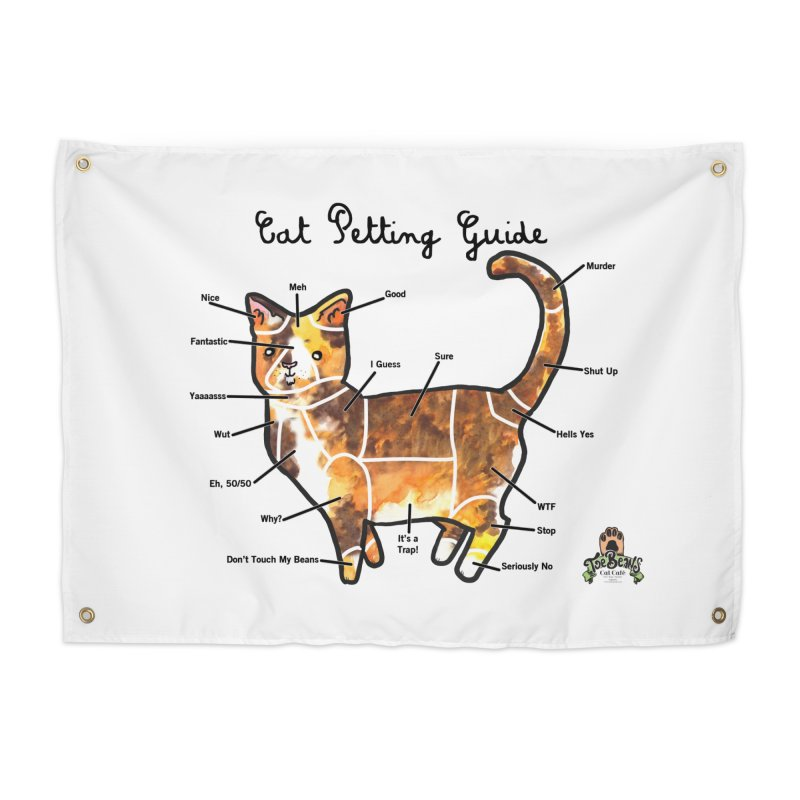 Toe Beans Cat Petting Guide Home Tapestry by Toe Beans Cat Cafe Online Shop