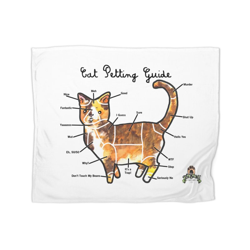 Toe Beans Cat Petting Guide Home Blanket by Toe Beans Cat Cafe Online Shop
