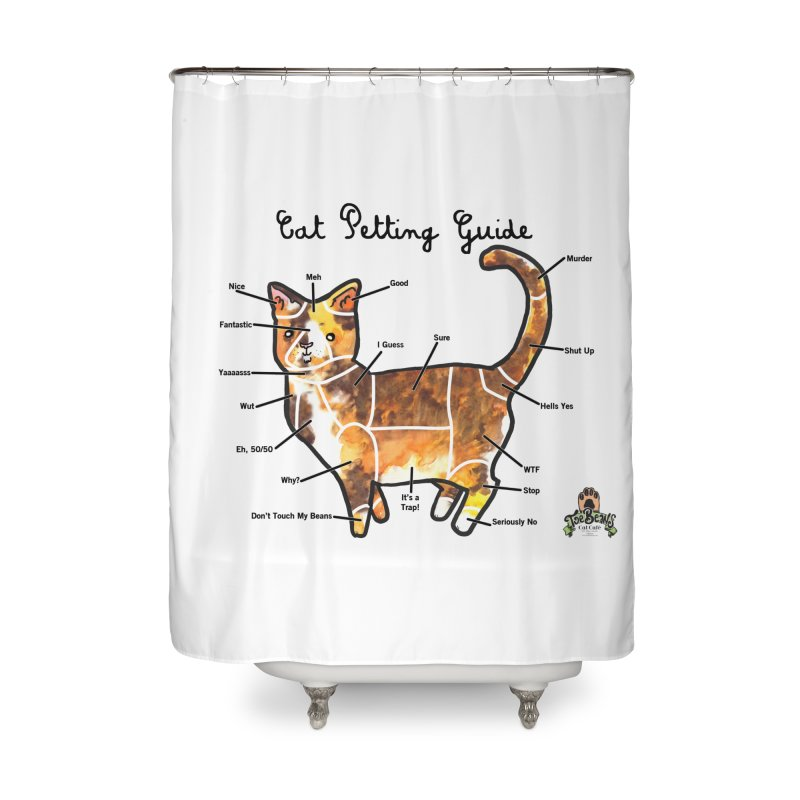 Toe Beans Cat Petting Guide Home Shower Curtain by Toe Beans Cat Cafe Online Shop