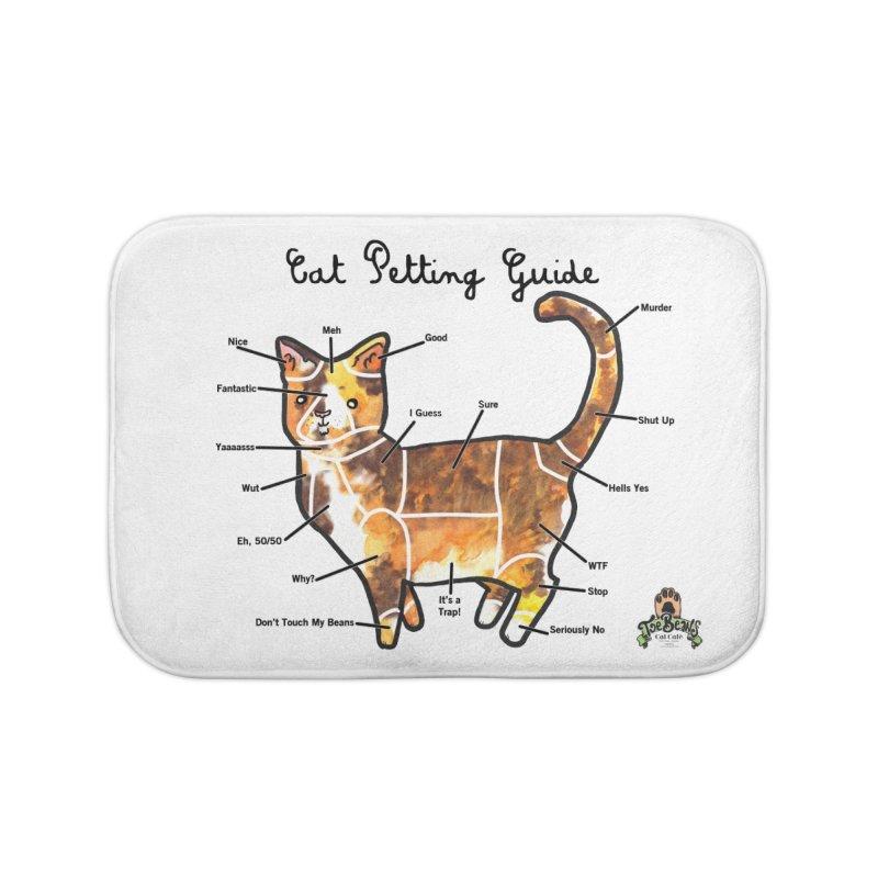 Toe Beans Cat Petting Guide Home Bath Mat by Toe Beans Cat Cafe Online Shop