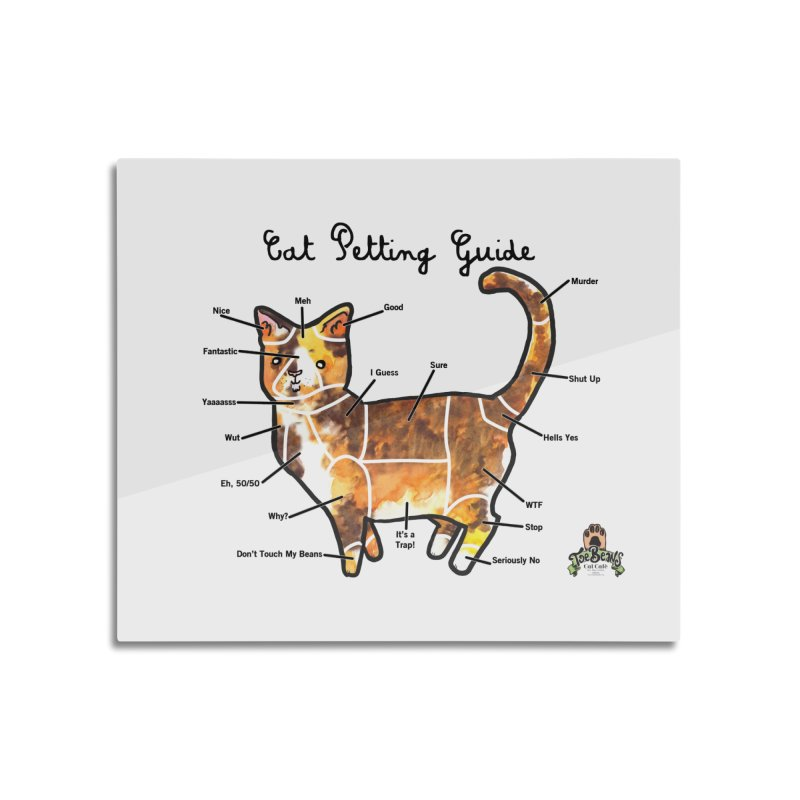 Toe Beans Cat Petting Guide Home Mounted Aluminum Print by Toe Beans Cat Cafe Online Shop