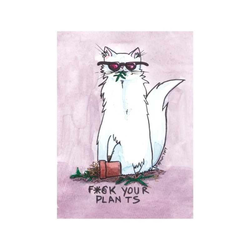 F*@ck Your Plants Accessories Beach Towel by Toe Beans Cat Cafe Online Shop