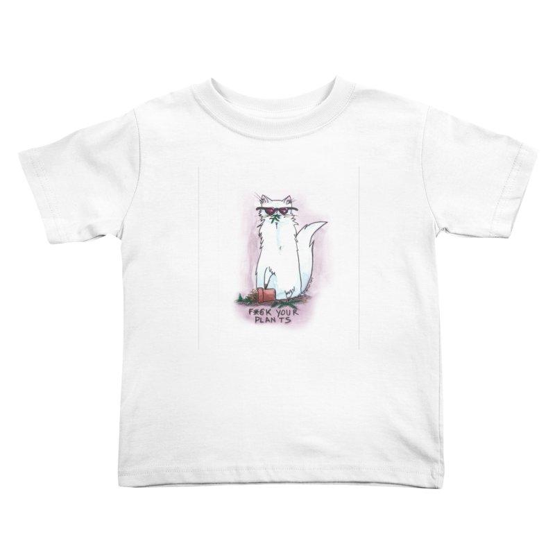 F*@ck Your Plants Kids Toddler T-Shirt by Toe Beans Cat Cafe Online Shop