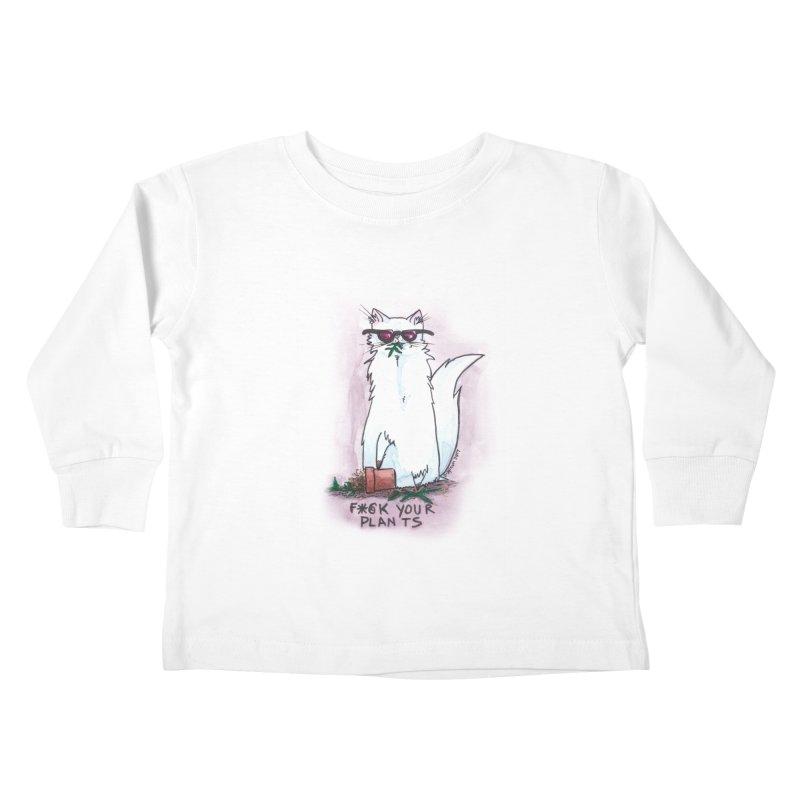 F*@ck Your Plants Kids Toddler Longsleeve T-Shirt by Toe Beans Cat Cafe Online Shop