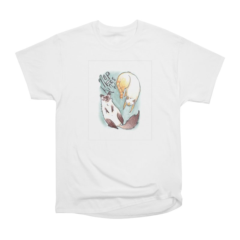 Nap Kings Women's Heavyweight Unisex T-Shirt by Toe Beans Cat Cafe Online Shop