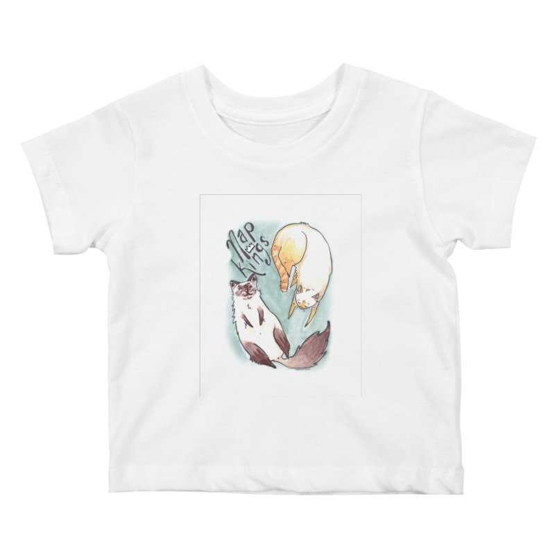 Nap Kings Kids Baby T-Shirt by Toe Beans Cat Cafe Online Shop