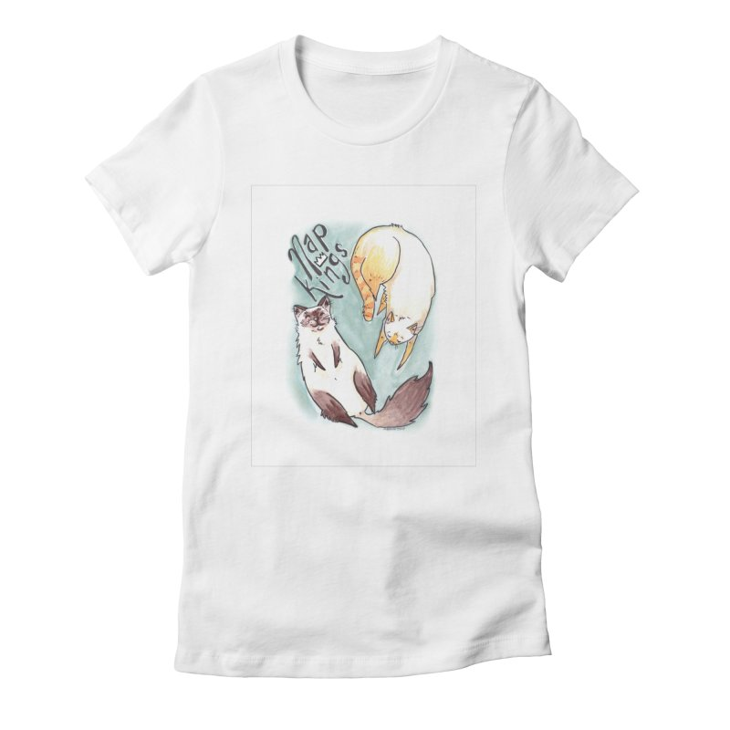 Nap Kings Women's Fitted T-Shirt by Toe Beans Cat Cafe Online Shop