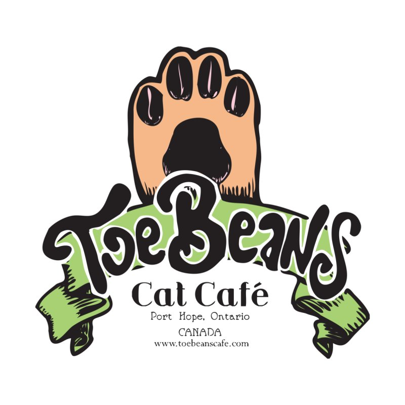Toe Beans Cat Cafe Original Logo Women's Heavyweight Unisex T-Shirt by Toe Beans Cat Cafe Online Shop