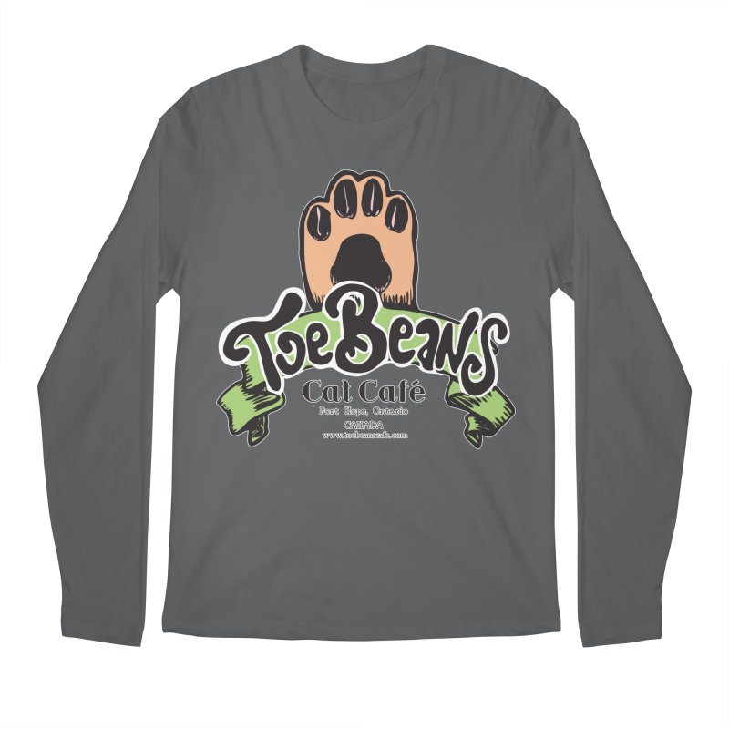 Toe Beans Cat Cafe Original Logo Men's Longsleeve T-Shirt by Toe Beans Cat Cafe Online Shop