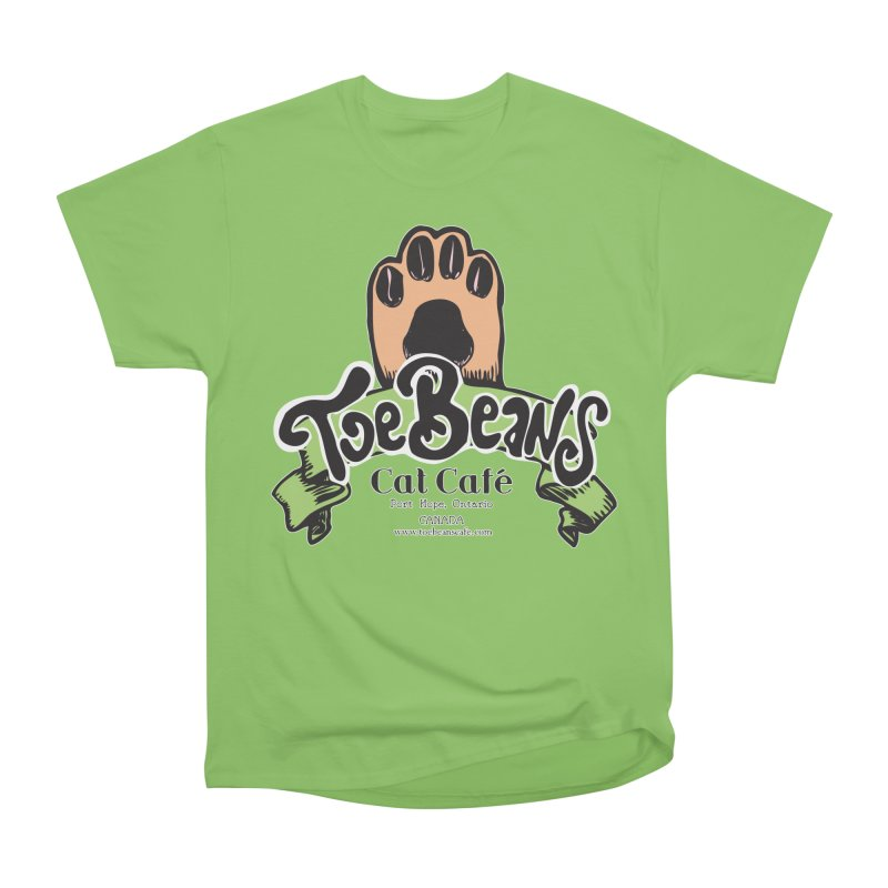 Toe Beans Cat Cafe Original Logo Women's Heavyweight Unisex T-Shirt by Toe Beans Cat Cafe Online Shop