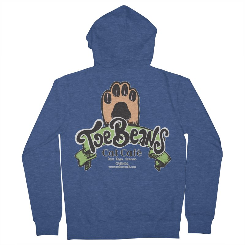 Toe Beans Cat Cafe Original Logo Men's French Terry Zip-Up Hoody by Toe Beans Cat Cafe Online Shop