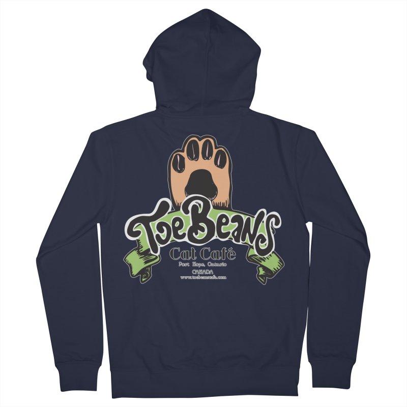 Toe Beans Cat Cafe Original Logo Men's Zip-Up Hoody by Toe Beans Cat Cafe Online Shop