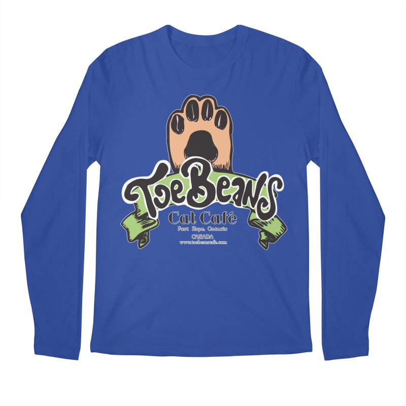 Toe Beans Cat Cafe Original Logo Men's Regular Longsleeve T-Shirt by Toe Beans Cat Cafe Online Shop