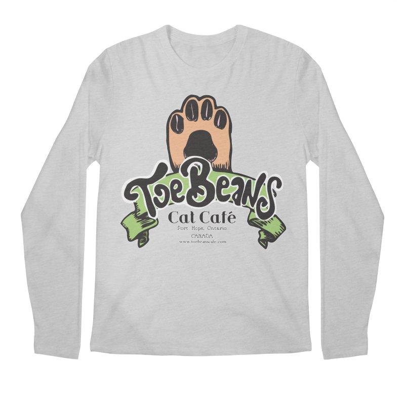 Toe Beans Cat Cafe Original Logo Men's Regular Longsleeve T-Shirt by Toe Beans Cat Cafe Online Shop